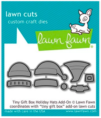 Tiny Gift Box Holiday Hats Add-On Die, Lawn Fawn