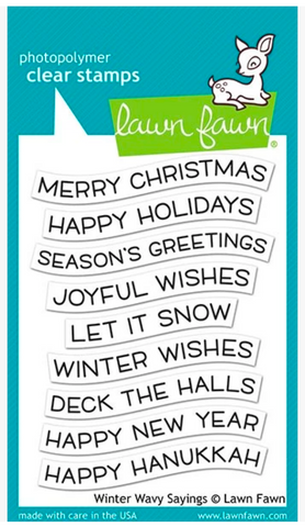 Winter Wavy Sayings Stamp Set, Lawn Fawn