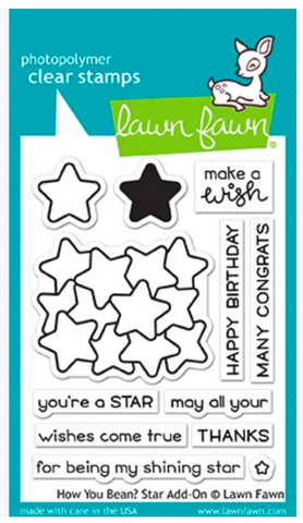 How You Bean? Star Add-On Stamp and Die Set, Lawn Fawn
