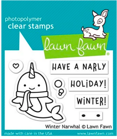 Winter Narwhal Stamp and Die Set, Lawn Fawn
