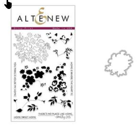 Ditsy Print Stamp & Die Bundle, Altenew