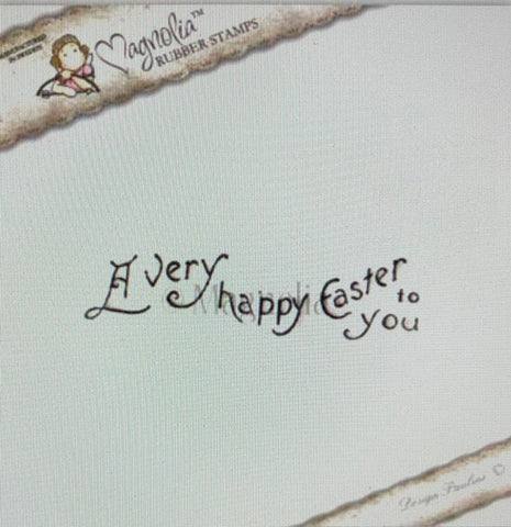 A Very Happy Easter (Word Stamp), Magnolia Rubber Stamps