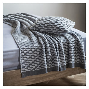 Arcos Knitted Grey Throw
