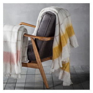 Agnes Yellow Mohair Feel Throw