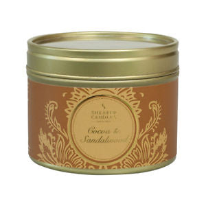 Cocoa & Sandlewood Small Tin Candle