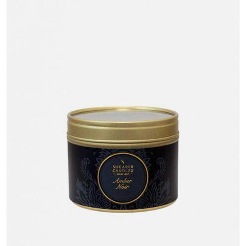 Amber Noir Small Tin Candle