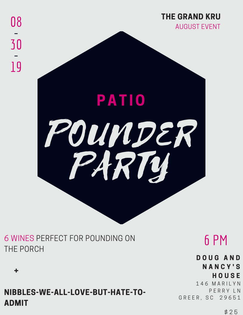 Patio Pounder Event: KRU Event