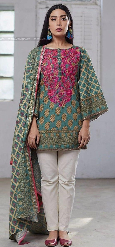 620fb9fd66 Khaadi Winter Embroidered Unstitched Khaddar PV Suit - 2 piece ...