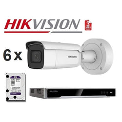 Hikvision 8CH 6Cam 8MP Motorised Bullet Kit NKMB868