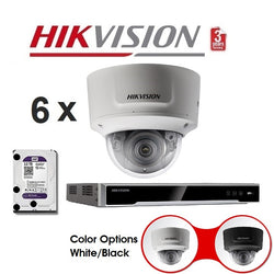 Hikvision 8CH 6Cam 8MP Motorised Dome Kit NKMD868