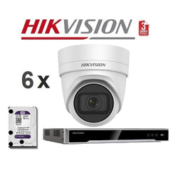 Hikvision 8CH 6Cam 8MP Motorised Network Kit NKMT868