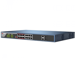 Hikvision DS-3E0318P-E 16-ports 100Mbps Unmanaged PoE Switch