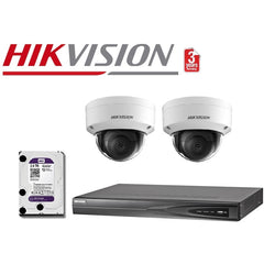 Hikvision 4CH 2Cam 8MP Dome Network Kit NKD428