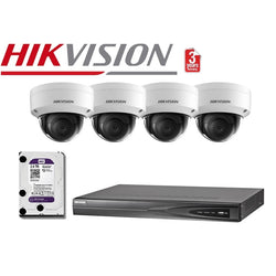 Hikvision 4CH 4Cam 8MP Dome Network Kit NKD448