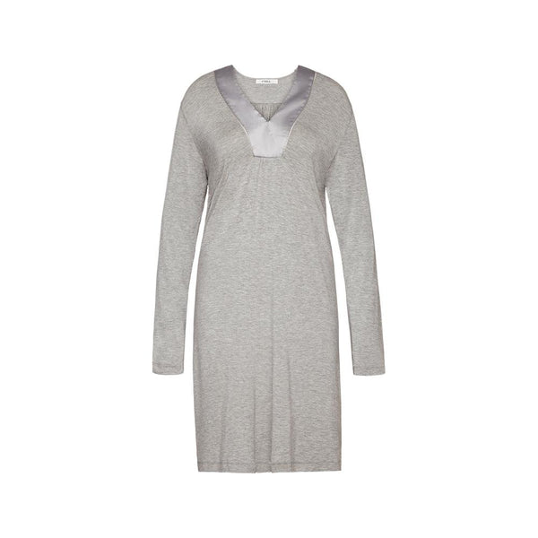 Nightdress long sleeve and V-neck - Luxury Essentials