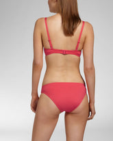 OCEAN CORAL RED - Bandeau bikini top foam cup wired