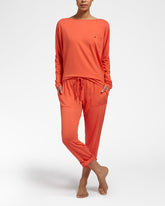 ALL DAY COMFORT Orange - Top with long sleeves