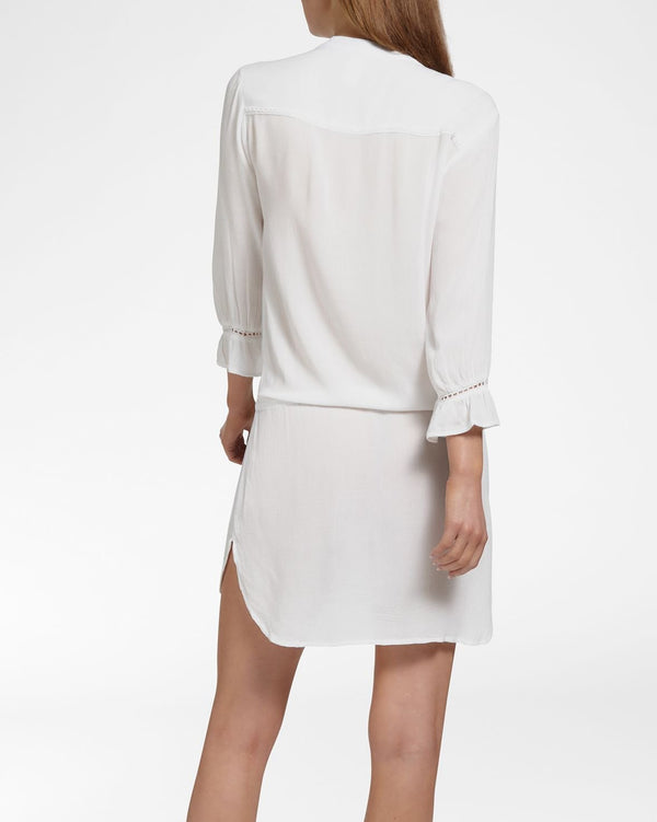 BEACH VIBES WHITE - Dress 3/4 sleeve