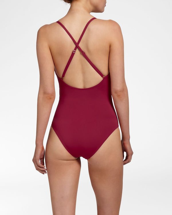 CITY SLICK SANGRIA - Bathing Suit with wrap detail