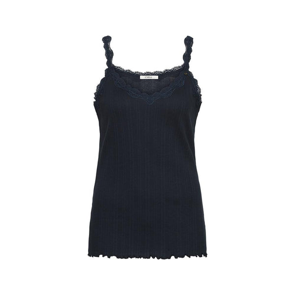 FANTASY RIB Ink Blue - Ribbed singlet