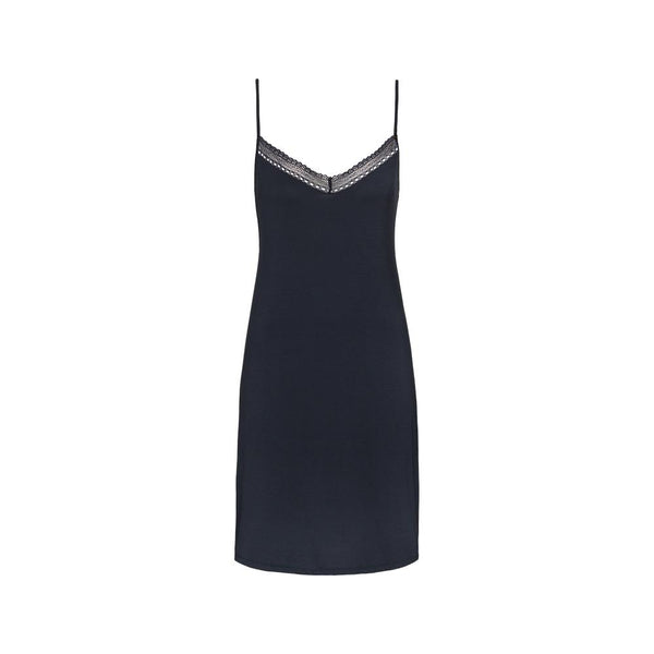 LUXURY ESSENTIALS Ink Blue - Nightdress with straps