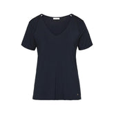 LUXURY ESSENTIALS Ink Blue - Top with short sleeves