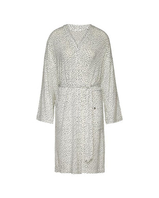LUXURY ESSENTIALS Spotted Ivory - Bathrobe