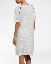 LUXURY ESSENTIALS Spotted Ivory - Nightdress with short sleeves