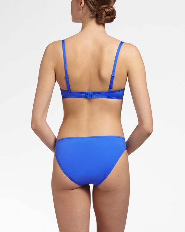 OCEAN BLUE - Bandeau bikini top wired