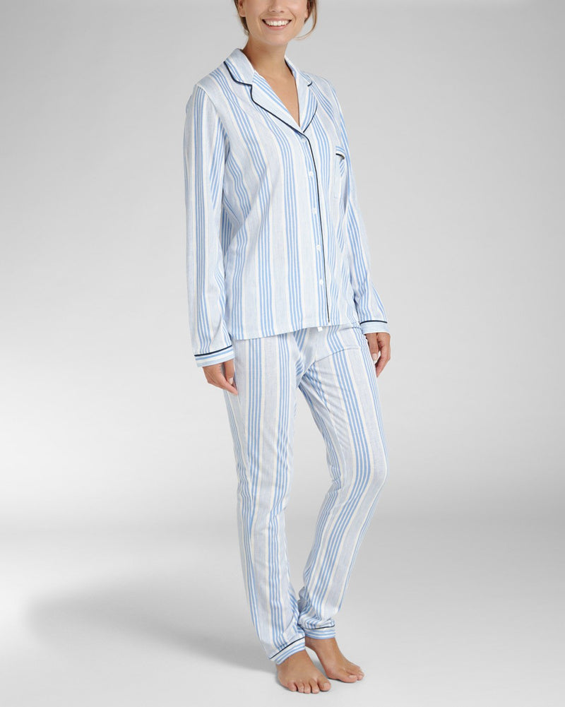 Pyjamatop Lange Mouw Mixed Stripe
