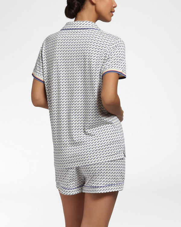 SHARP LOOK - Top with short sleeves