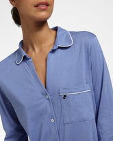 SOLIDS Royal Blue - Nightdress with 3/4 sleeves