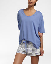 Solids Royal Blue Top Met Korte Mouwen