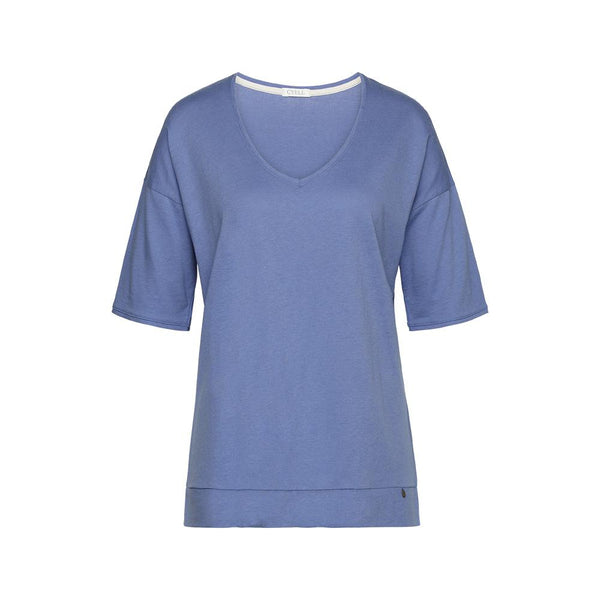 SOLIDS Royal Blue - Top with short sleeves