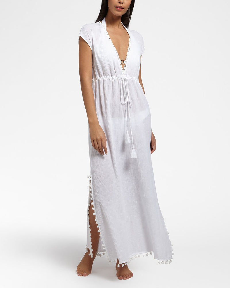 SUNSET WHITE - Dress long