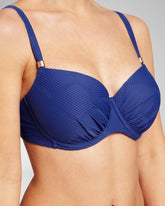 TEXTURE DEEPBLUE - Bikini top foam cup wired