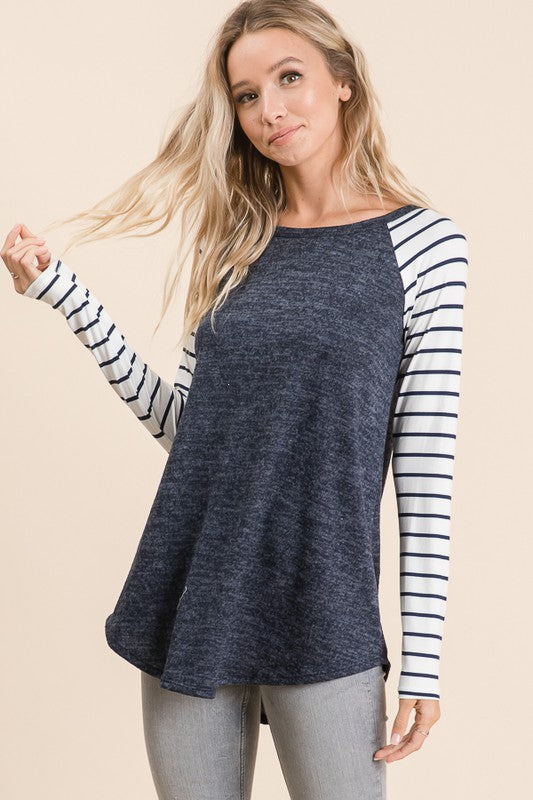 Striped Raglan Long Sleeve