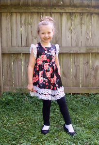 Kids Floral Lace Dress