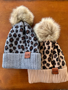 Leopard Fleece Beanies