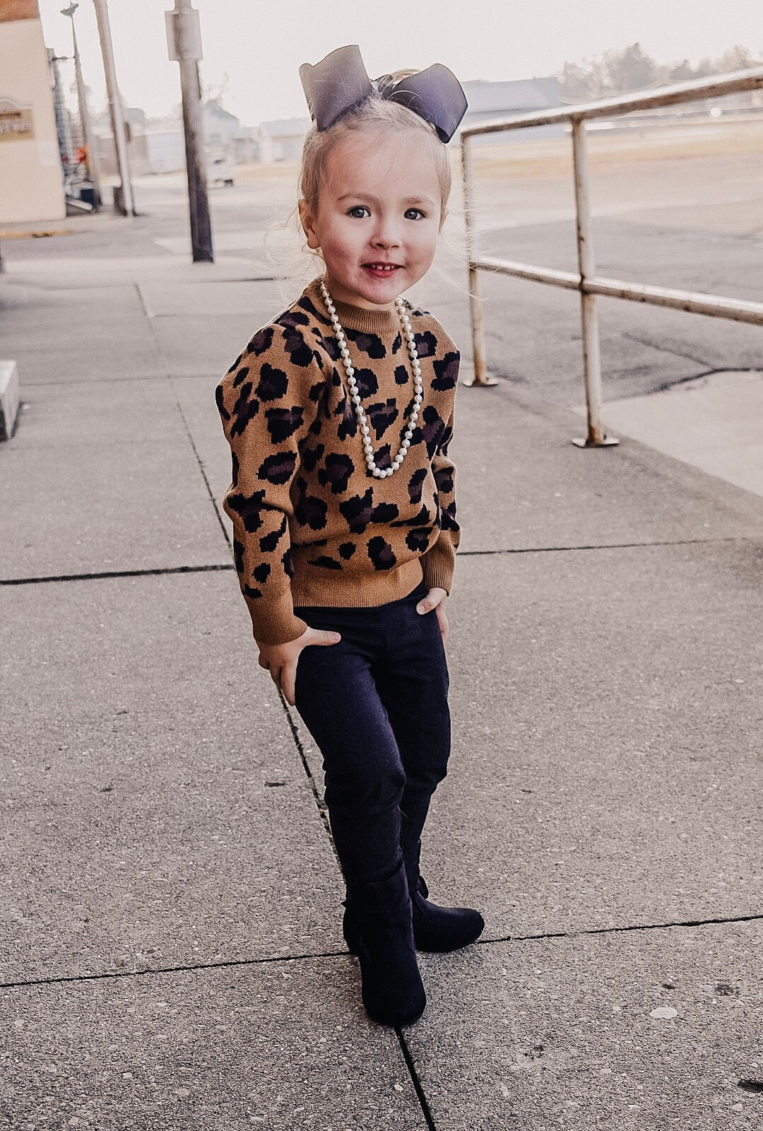 The Purrfect Kids Leopard Sweater