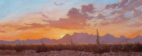Desert Colors at Sunset - Oil Paintings by artist John Horejs