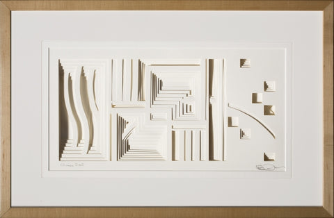 Chicago River - paper Sculpture by artist William Freer