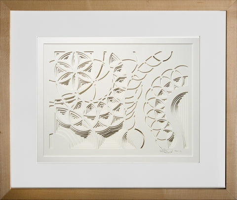 Spring Sky - paper Sculpture by artist William Freer