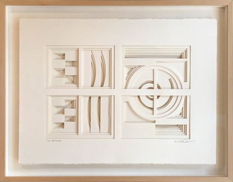 Out the Window (Paper) - paper Sculpture by artist William Freer