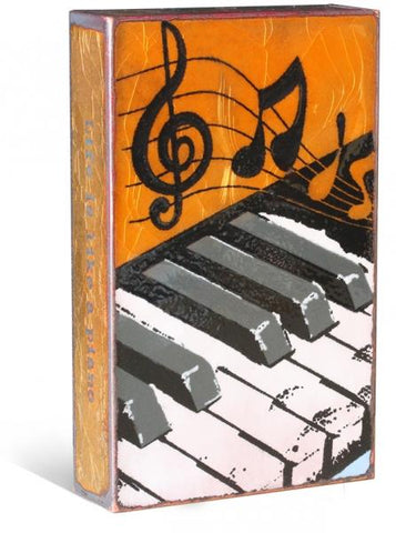 003 Tickled Ivory - Glass on Copper Metal Wall Art by artist Houston Llew - Spiritiles