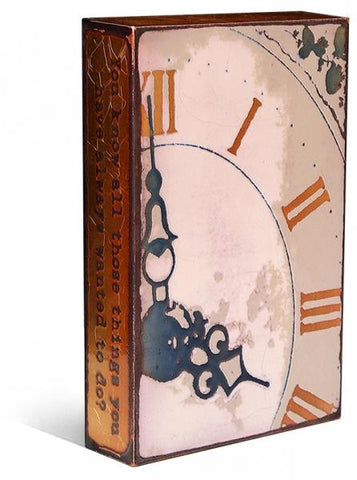013 TARDIS - Glass on Copper Metal Wall Art by artist Houston Llew - Spiritiles