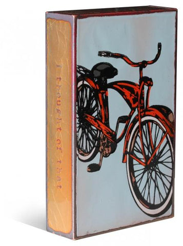 033 Brilliant Ride-Retired - Glass on Copper Metal Wall Art by artist Houston Llew - Spiritiles