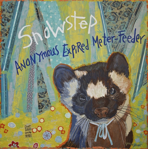 Snowstep - Mixed Media on Panel Paintings by artist Yvonne Gaudet