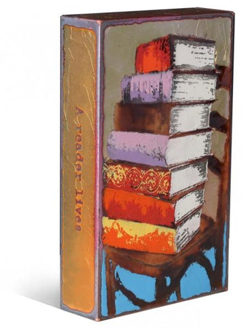 141 Epic Tales - Glass on Copper Metal Wall Art by artist Houston Llew - Spiritiles