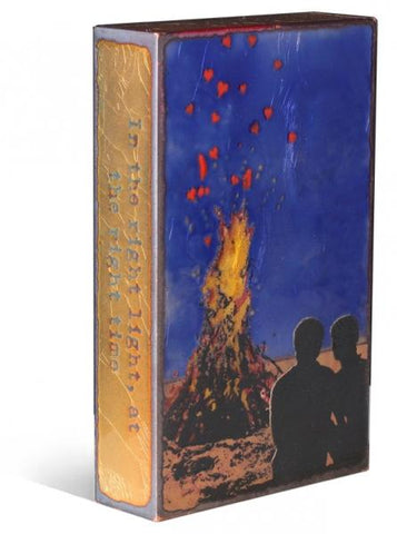 142 Kindling-Retired - Glass on Copper Metal Wall Art by artist Houston Llew - Spiritiles